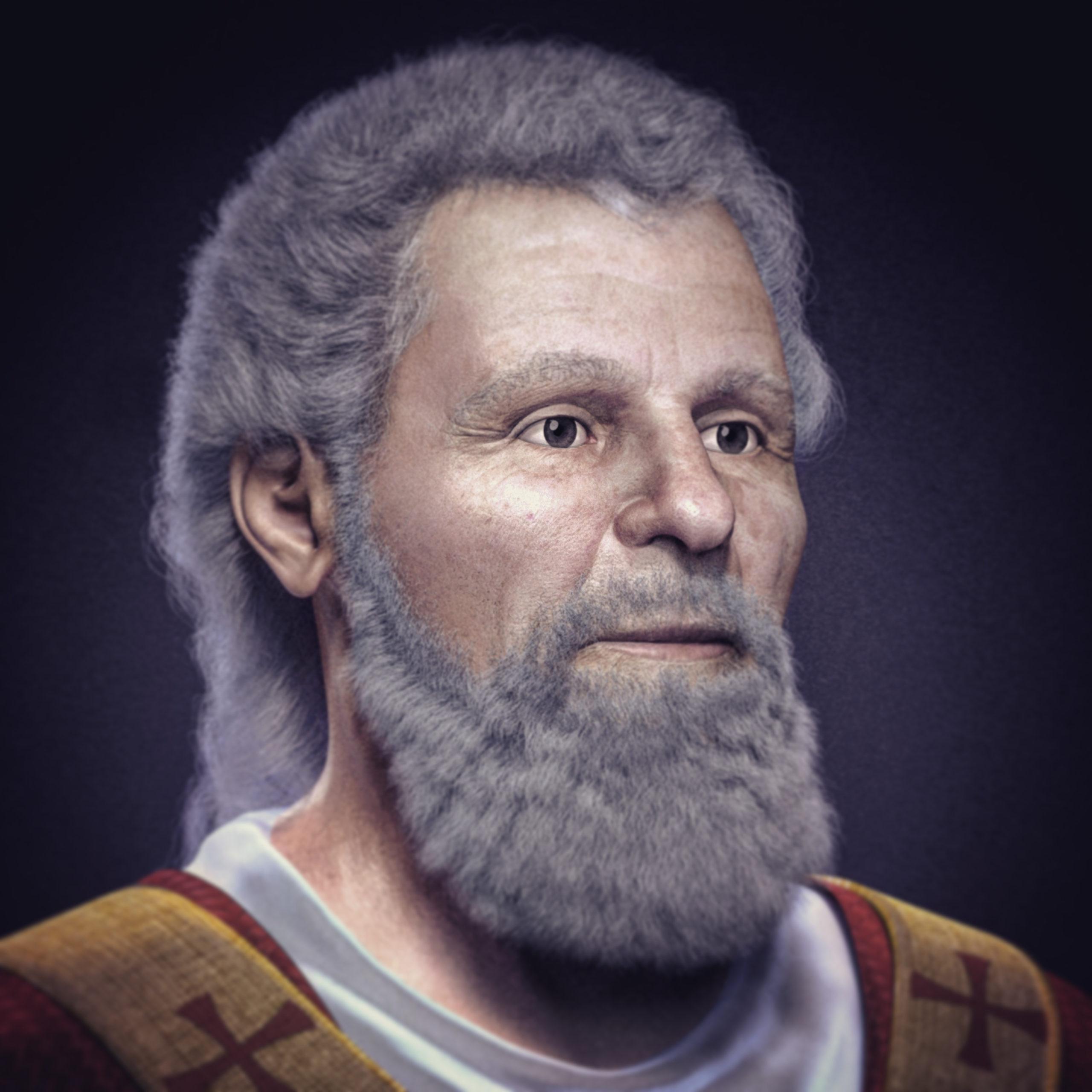 Rekonstrukce obličeje svatého Valentina. Zdroj: Wikipedia